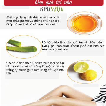 5 tinh chất thiên nhiên giúp chữa trị sẹo và đốm da trên chân hiệu quả tại nhà